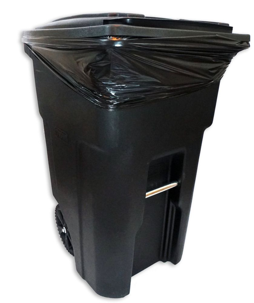 Details About 55 60 Gallon Trash Bag Black 38x58 100 Count Garbage Bag Holder Garbage Can Trash