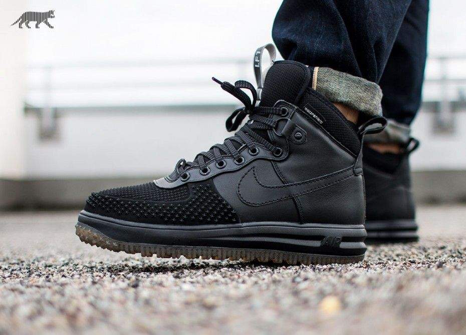 75b6401df3e2 Nike Lunar Force 1 Duck Boot (Black   Black - Metallic Silver - Anthracite)