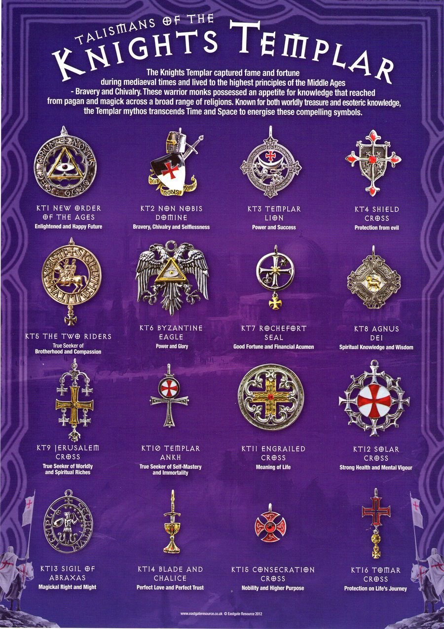 Talismans Of The Knights Templar By Dashinvaineiantart On  @deviantart