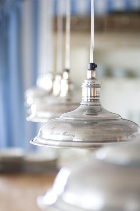 riviera maison // silver pendant light