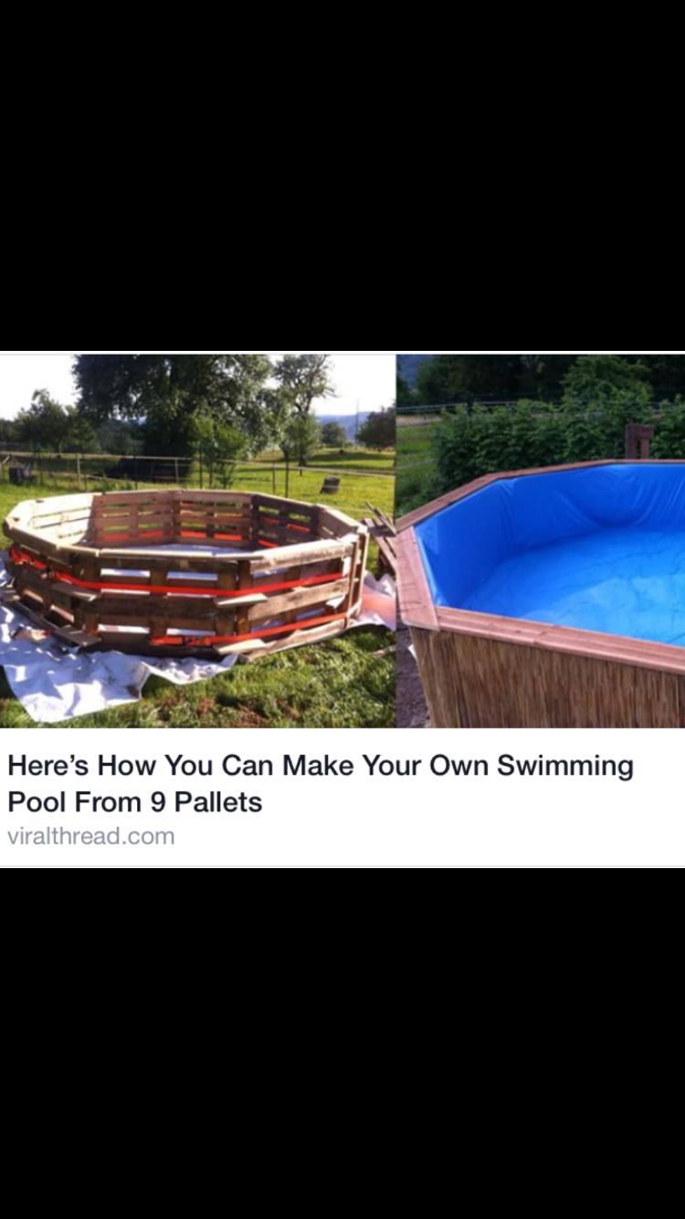 Pallet project!! Swimming pool