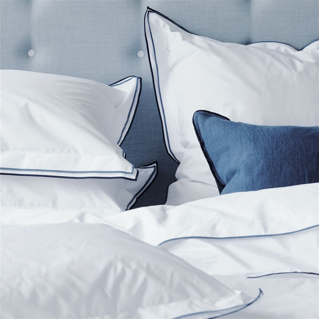 Astor Denim Plain Cotton Bed Linen Designers Guild Cotton Bed
