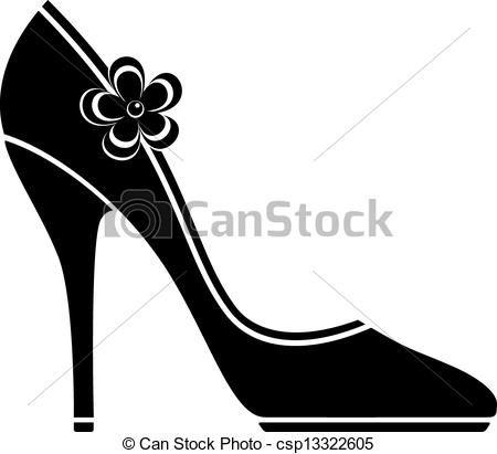 shoe silhouette clip art | , stock clip art icon, stock