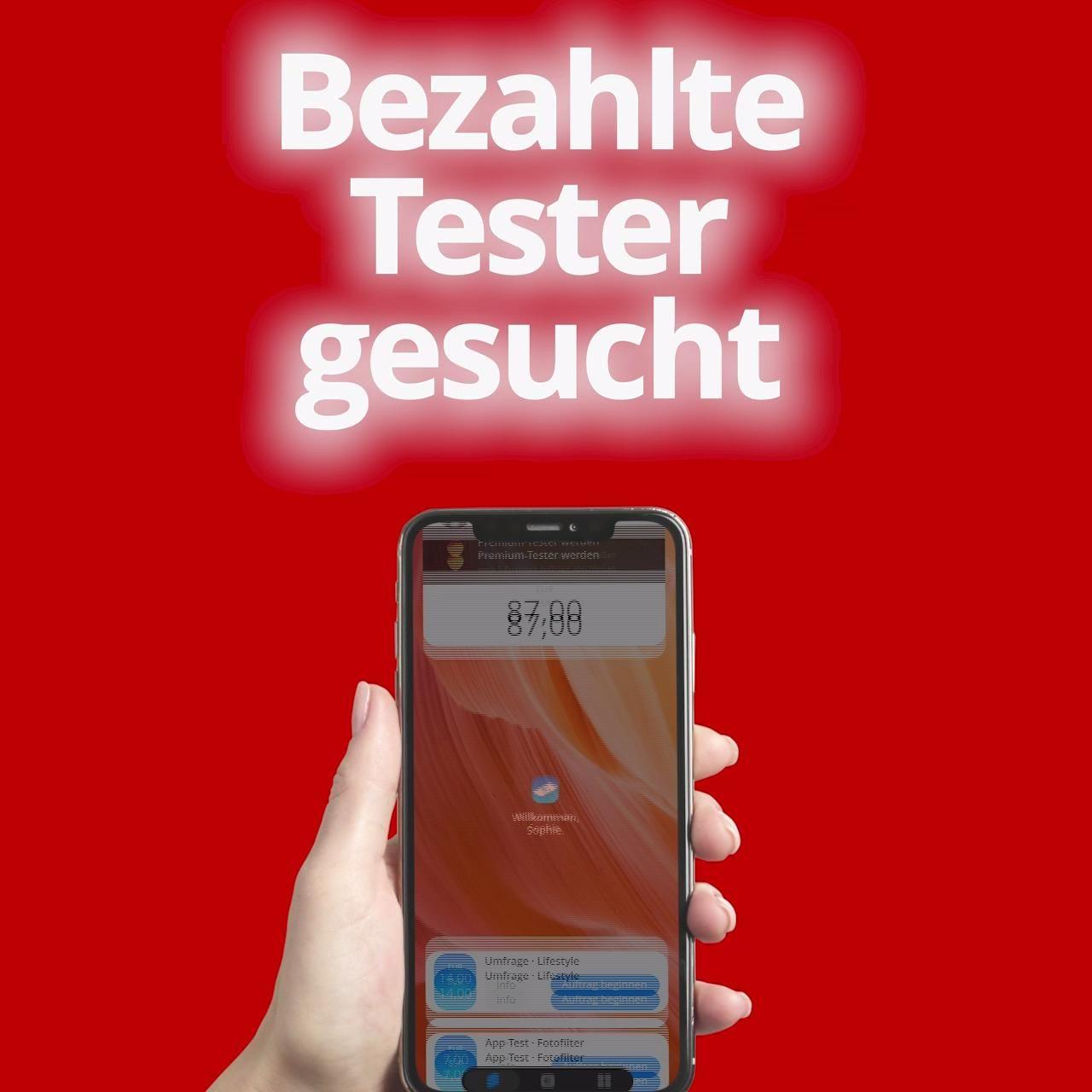 Photo of Bezahlte Tester gesucht!