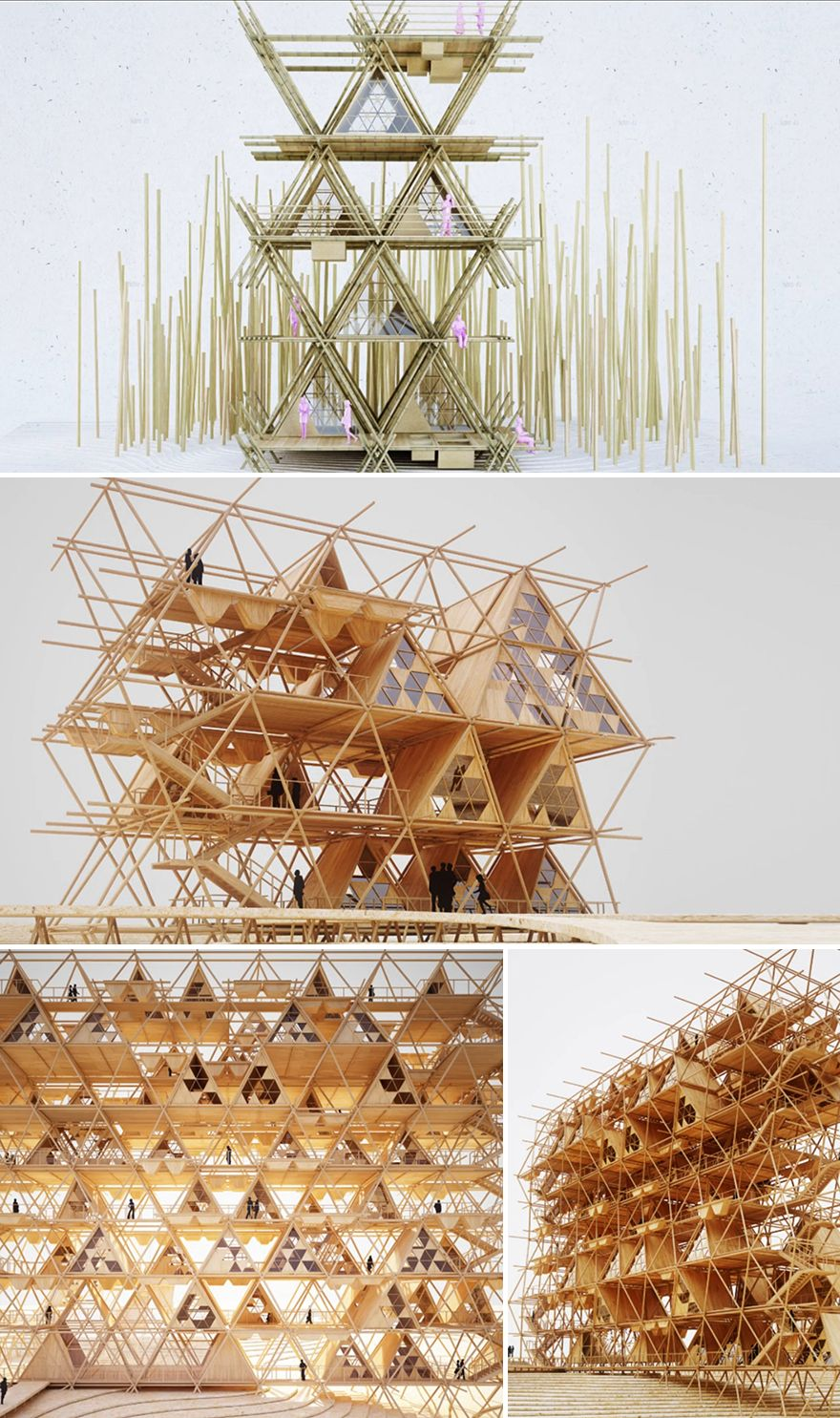 Penda's Fastener-Free, Re-usable Bamboo Structural System - Core77