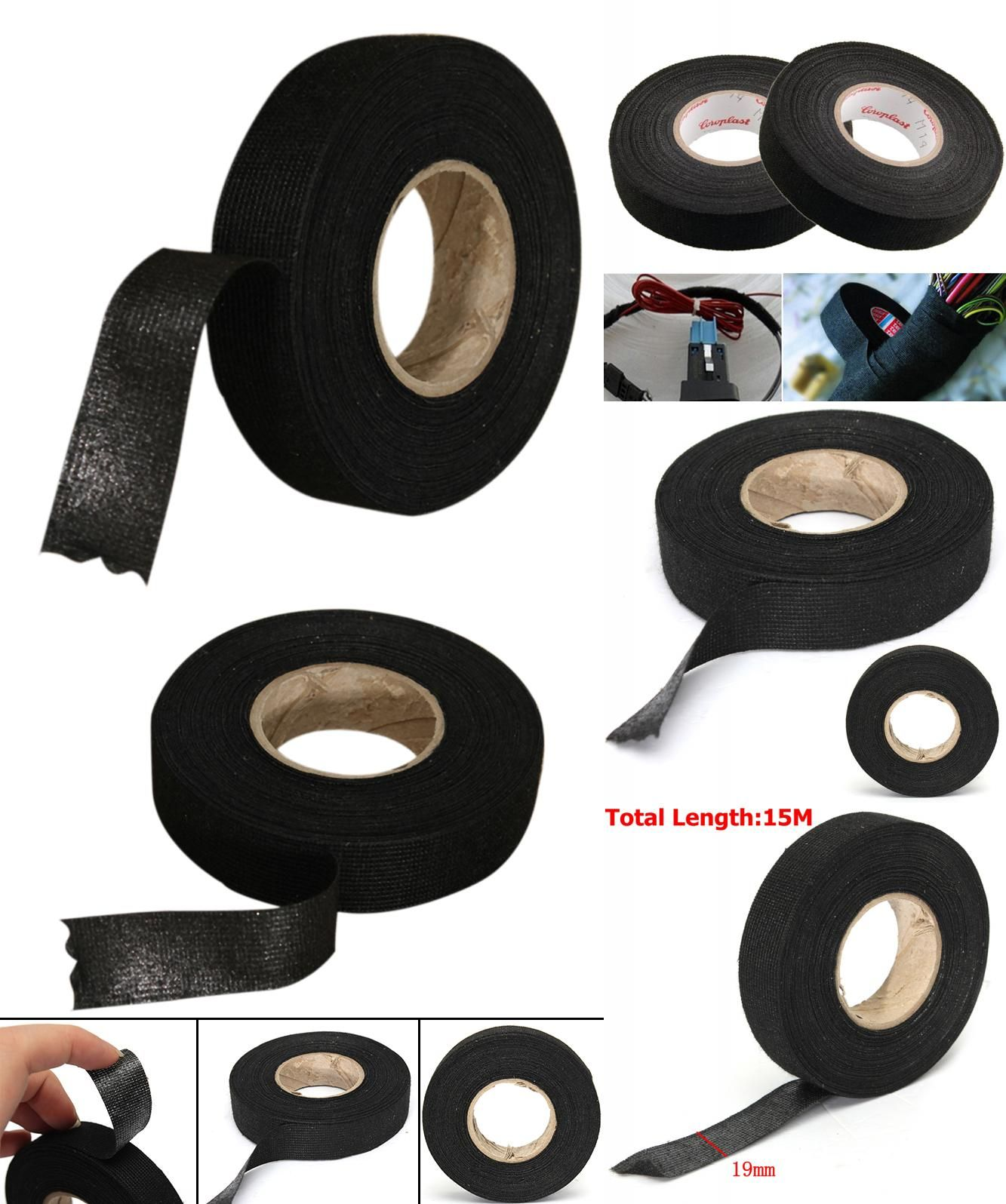 Visit To Buy 1pc Black Adhesive Cloth Fabric Tape Cable Wiring Harness Protection For Car