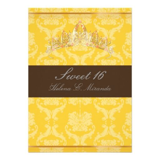 >>>Order          	PixDezines Damask Sweet 16/ tiara/yellow+chocolate Custom Invitation           	PixDezines Damask Sweet 16/ tiara/yellow+chocolate Custom Invitation In our offer link above you will seeDeals          	PixDezines Damask Sweet 16/ tiara/yellow+chocolate Custom Invitation today...Cleck Hot Deals >>> http://www.zazzle.com/pixdezines_damask_sweet_16_tiara_yellow_chocolate_invitation-161698622709090023?rf=238627982471231924&zbar=1&tc=terrest