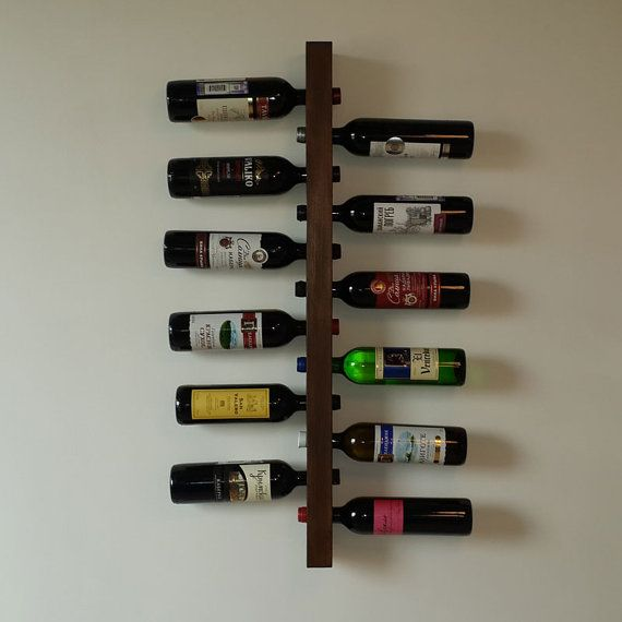 Wall mount wine rack 12 bottles Pine tree Dimensions with - weinregal f r k che