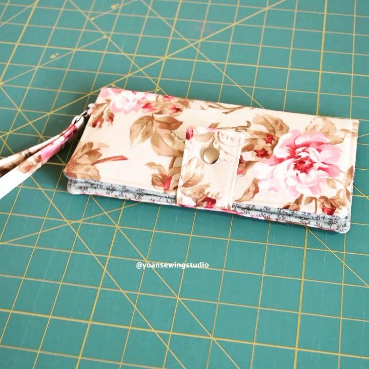 Slim bifold wallet sewing tutorial