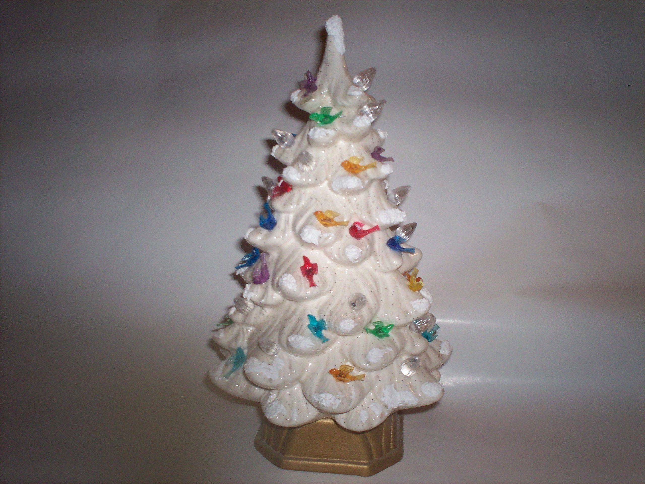amazoncom ceramic christmas tree 11 inch white - Amazon White Christmas Decorations