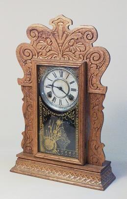 Antique Sessions Oak Mantel Kitchen Clock 6518356571 Antique