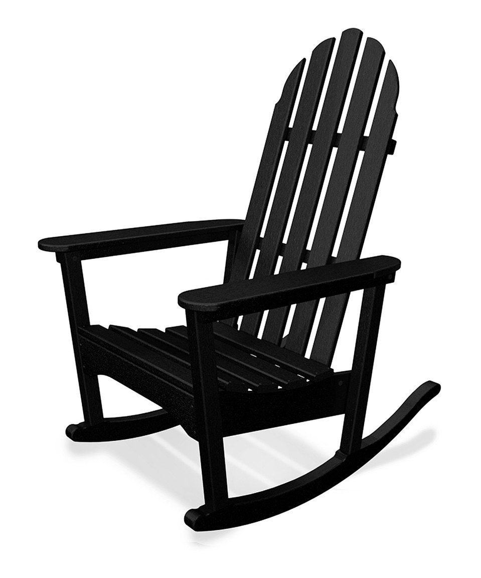 Love This Black Classic Adirondack Rocker By Polywood On Zulily