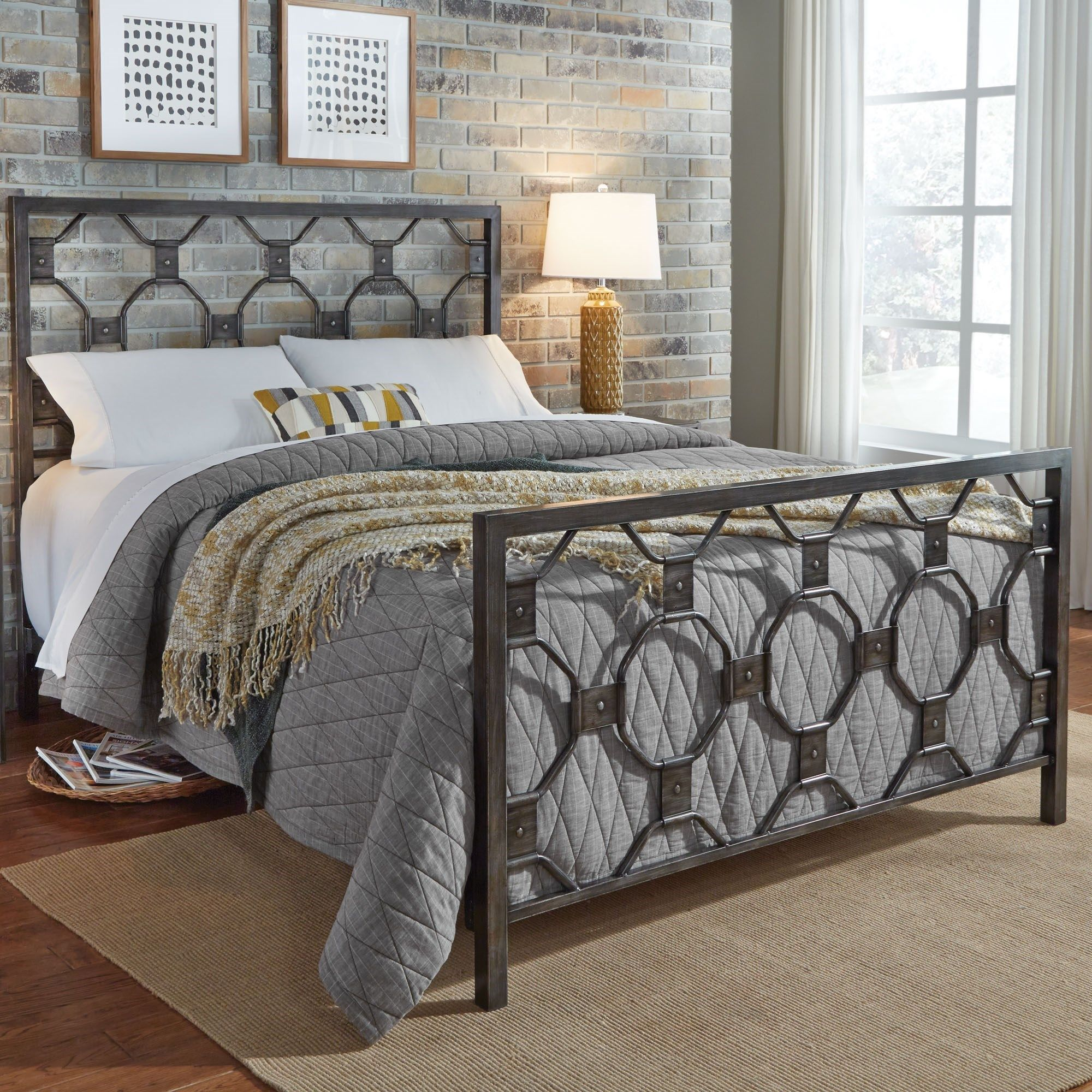 Fashion Bed Group Baxter Full Baxter Complete Metal Bed