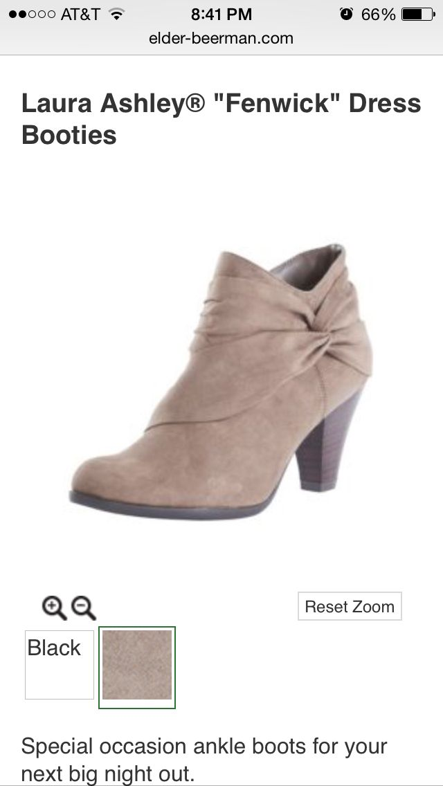 25663dc8dfcdb1 Laura Ashley taupe ankle boots from Elder-Beerman