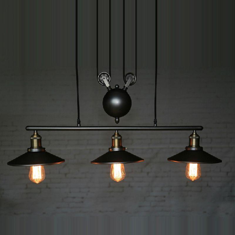 Goedkope Rh Verlichting Retro Iron Katrol Hanglampen Loft Amerikaanse Vintage Industriele Katrol Touw Antieke Edison Hanger Eetkamer Verlichting Vintage Industriele En Plafondverlichting