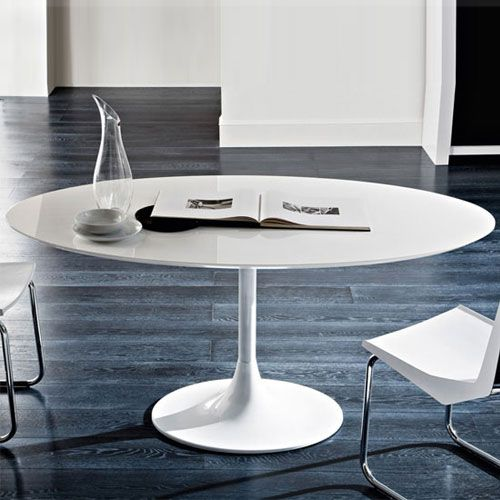 Corona Oval Dining Table By Domitalia Oval Table Dining Dining Table In Kitchen Modern Round Kitchen Table