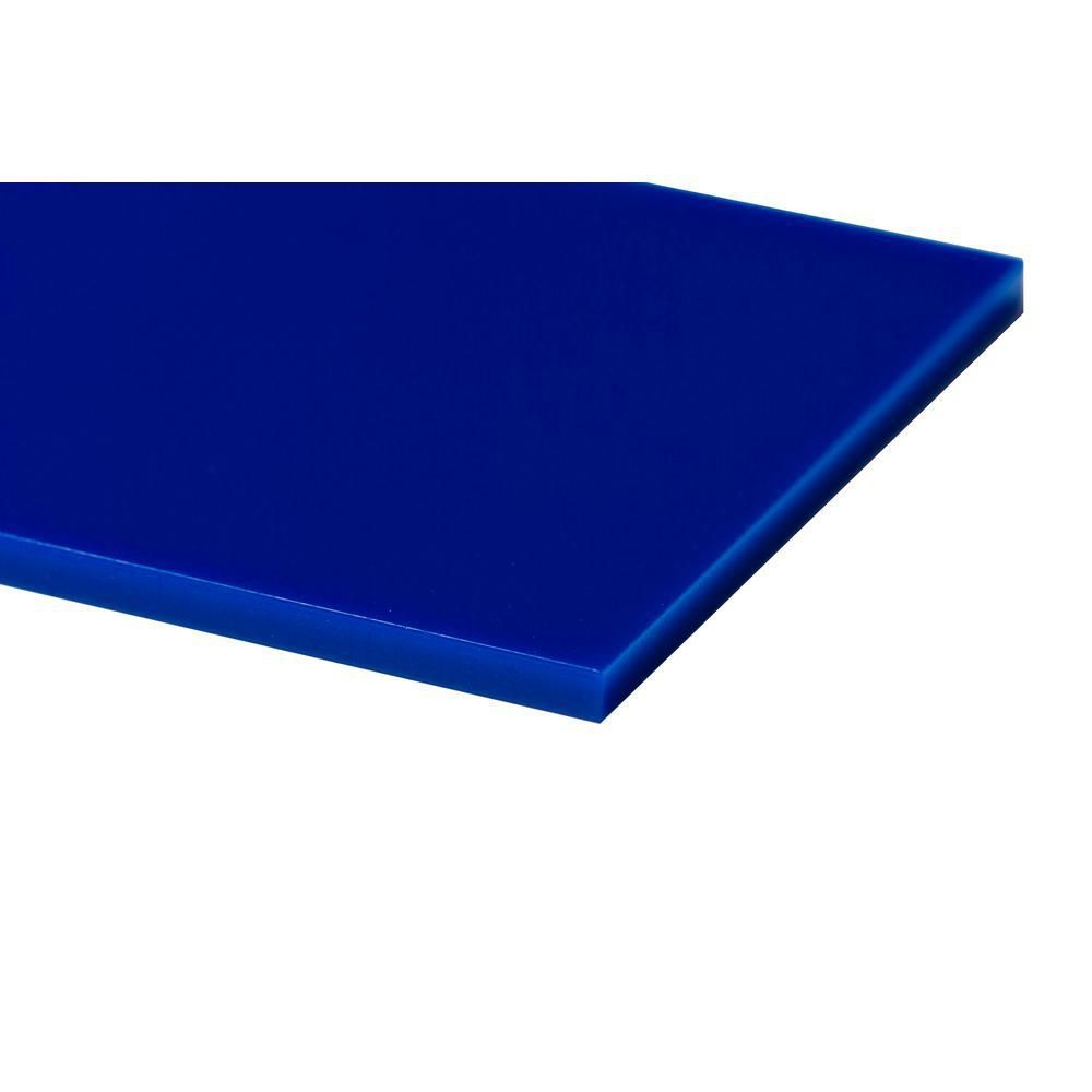 Plexiglas 48 In X 48 In X 1 8 In Blue Acrylic Sheet Acrylic Sheets Black Acrylic Sheet White Acrylic Sheet