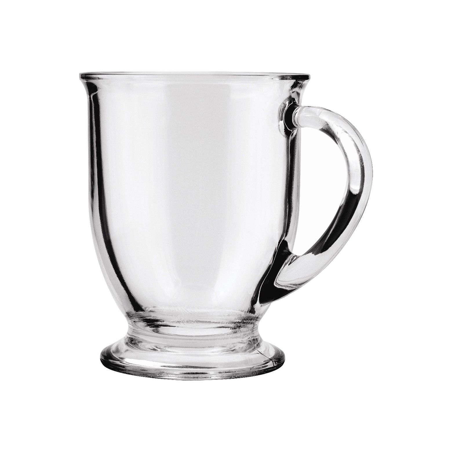 Warm up with this Anchor Hocking 16 oz. handled glass cafe