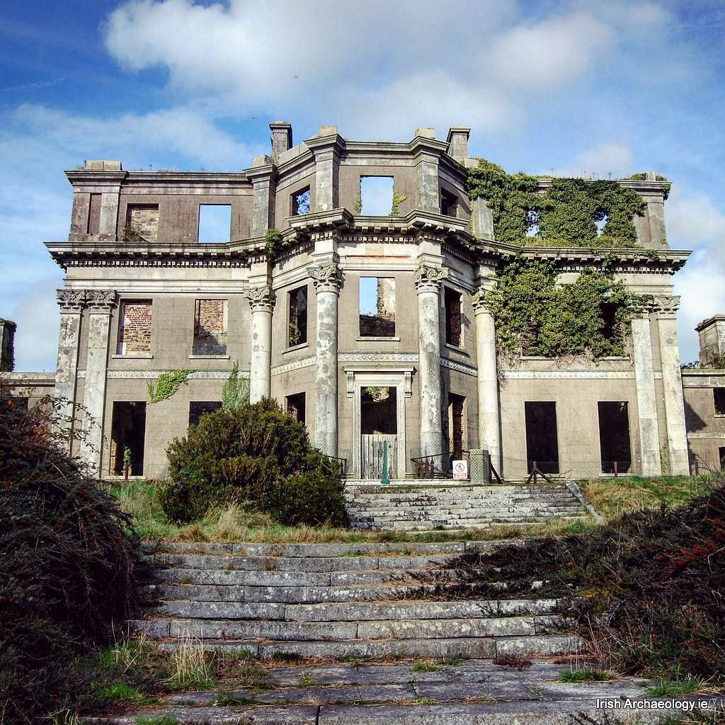 he ruins of Castleboro house, Wexford  A former home of the