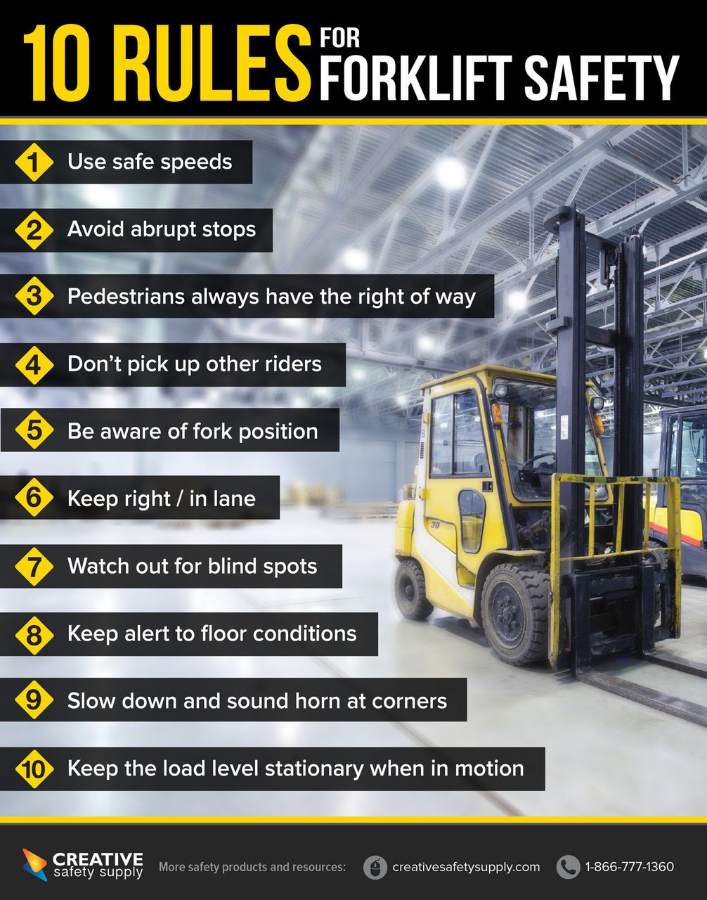 Forklift Safety Poster Health and safety poster