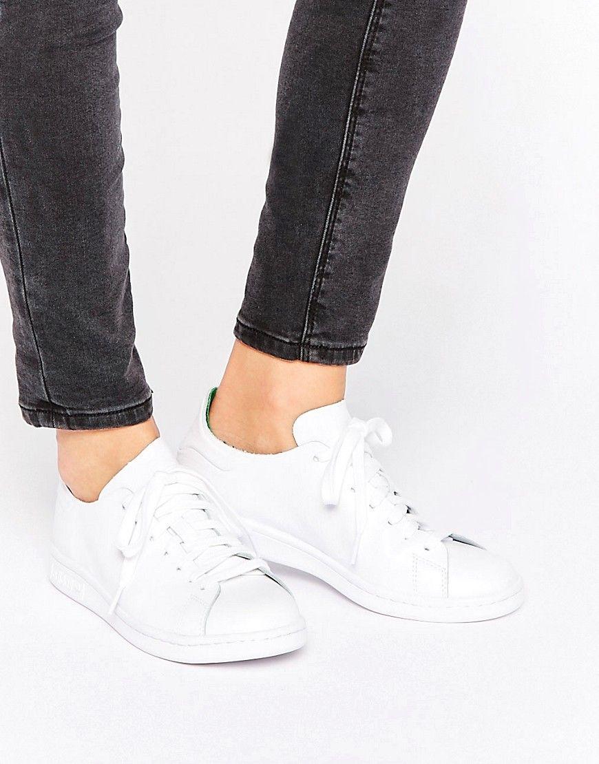promo code 9e5f3 42577 ADIDAS ORIGINALS ADIDAS ORIGINALS CLEAN WHITE LEATHER STAN SMITH SNEAKERS -  WHITE.  adidasoriginals  shoes