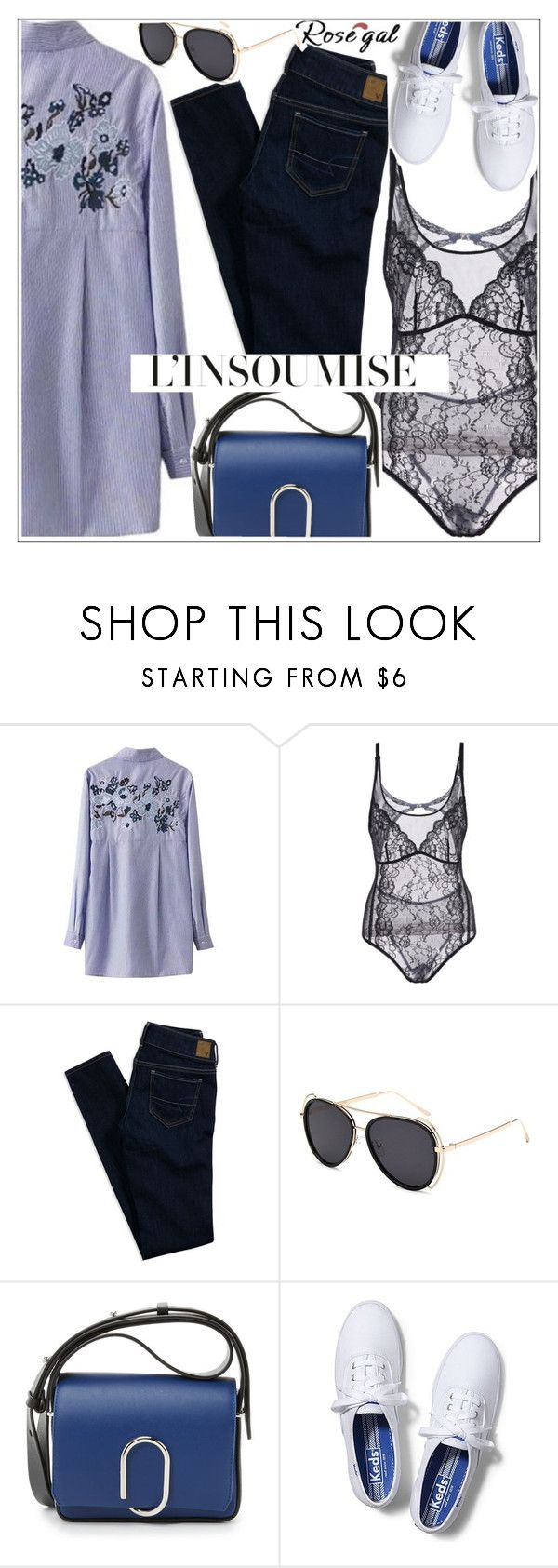 """""""Rosegal"""" by teoecar ❤ liked on Polyvore featuring American Eagle Outfitters, 3.1 Phillip Lim and Keds"""