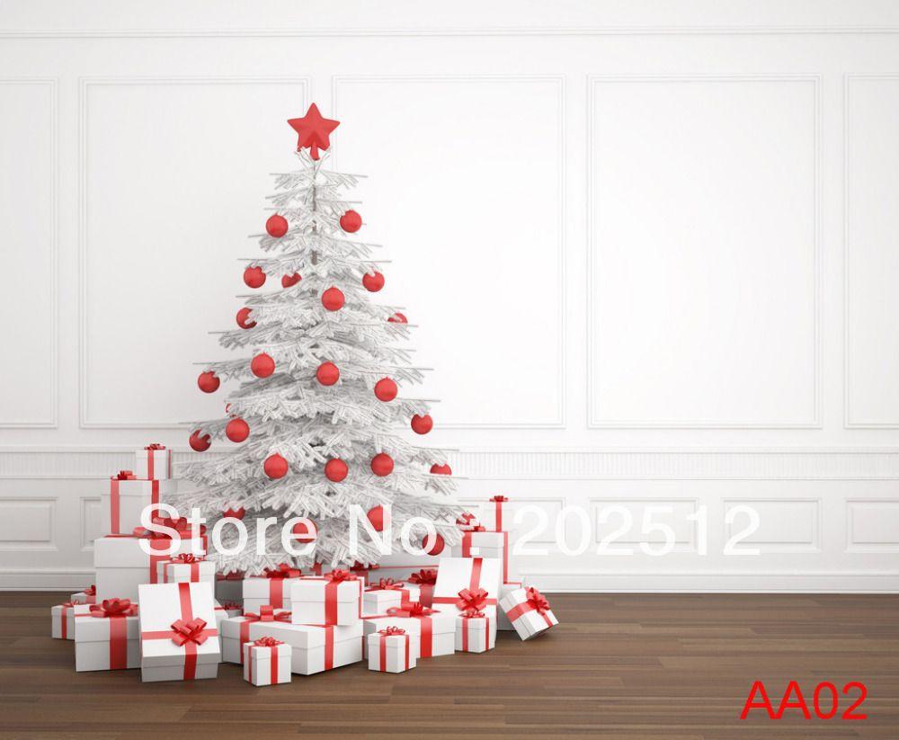White tree, white gifts | Backdrops | Navidad, Navidad blanca ...