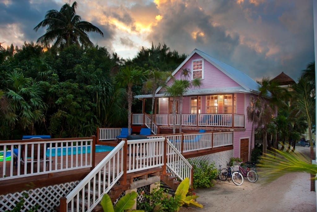 House in Belize City, Belize. Beautifully finished brand