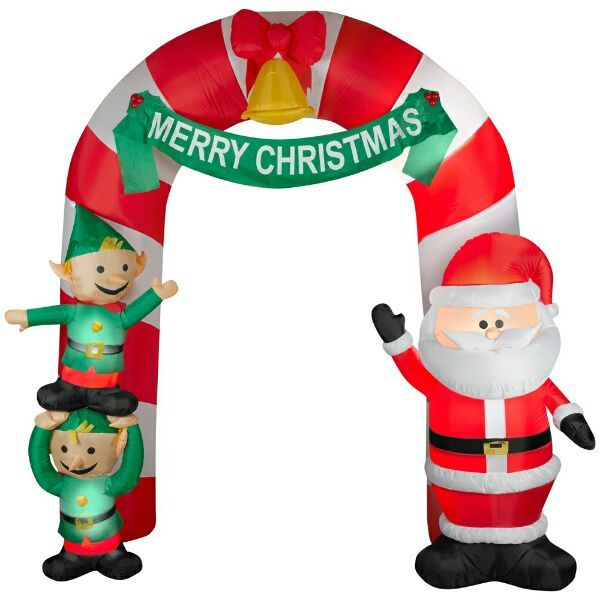 santa and elves entrance inflatable - Walmart Inflatable Christmas Decorations