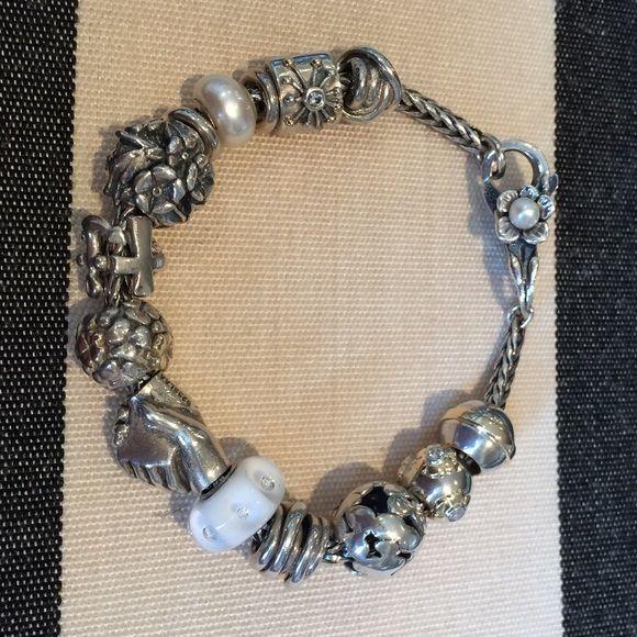 Troll Bracelet With Pandora Beads Is Sterling Silver A Few 14k Elements