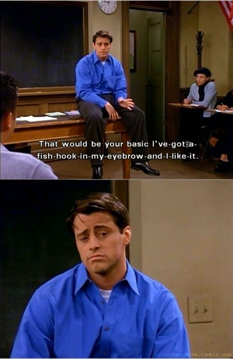 joey\'s acting lessons, similar to phoebe\'s guitar chords... | I\'ll ...