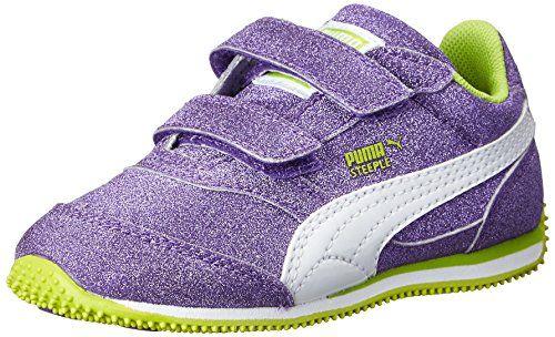 PUMA Steeple Glitz AOG V Kids Sneaker (Infant/Toddler/Little Kid), Prism Violet/Lime Punch, 4 M US Toddler PUMA http://www.amazon.com/dp/B00LG9KU5O/ref=cm_sw_r_pi_dp_O2AIvb09P4P6J