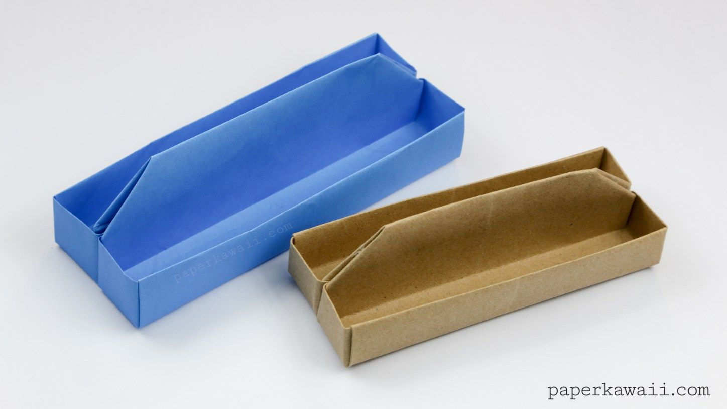 Origami toolbox or long tray tutorial toolbox origami and trays origami tray tutorial paper kawaii learn how to make an origami toolbox or tray sciox Gallery