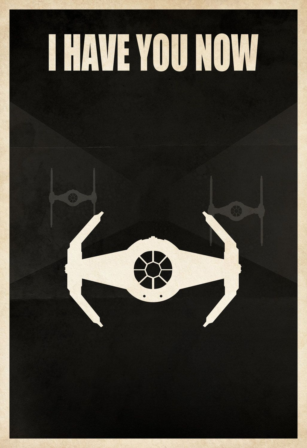 "Licensed Star Wars Minimalist Darth Vader Tie Fighter ""I Have You Now"" 13×19 Poster Print"