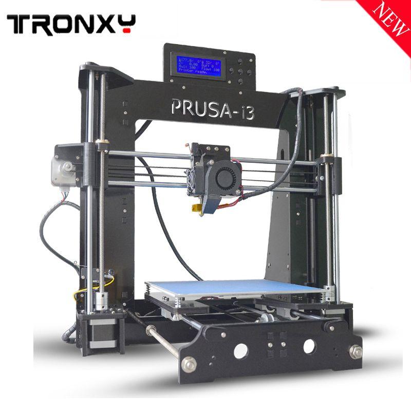Tronxy 3d Printer X6d High Precision Prusa I3 Kit Printing 220 220 180mm Acrylic Lcd Screen 3d Printer Kit With Heated Be 3d Printer Kit Printer 3d Printer Diy