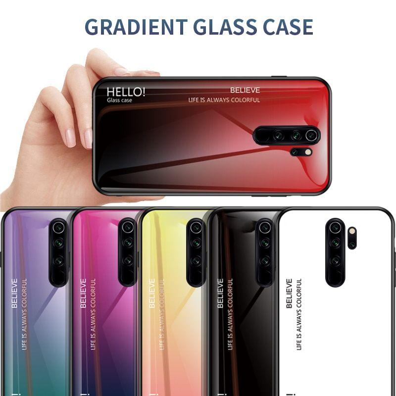 For Xiaomi Redmi Note 8 Pro Gradient Soft Silicone Frame Cover Colour Camera Case Xiaomi
