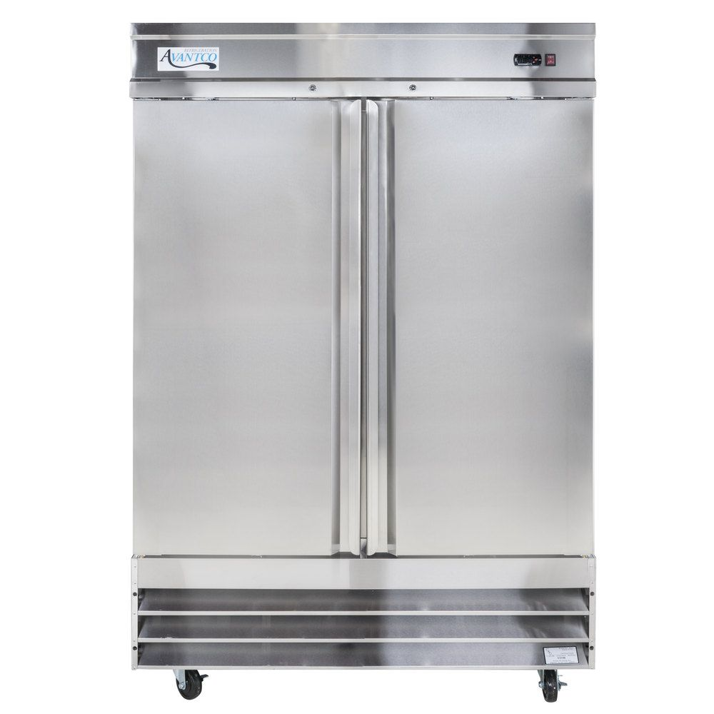 Avantco Cfd 2rr 54 Two Section Solid Door Reach In Refrigerator