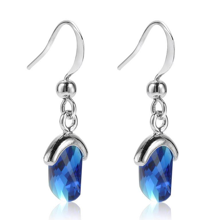 Deep Blue Topaz Earrings | Accessory ideas | Pinterest ...