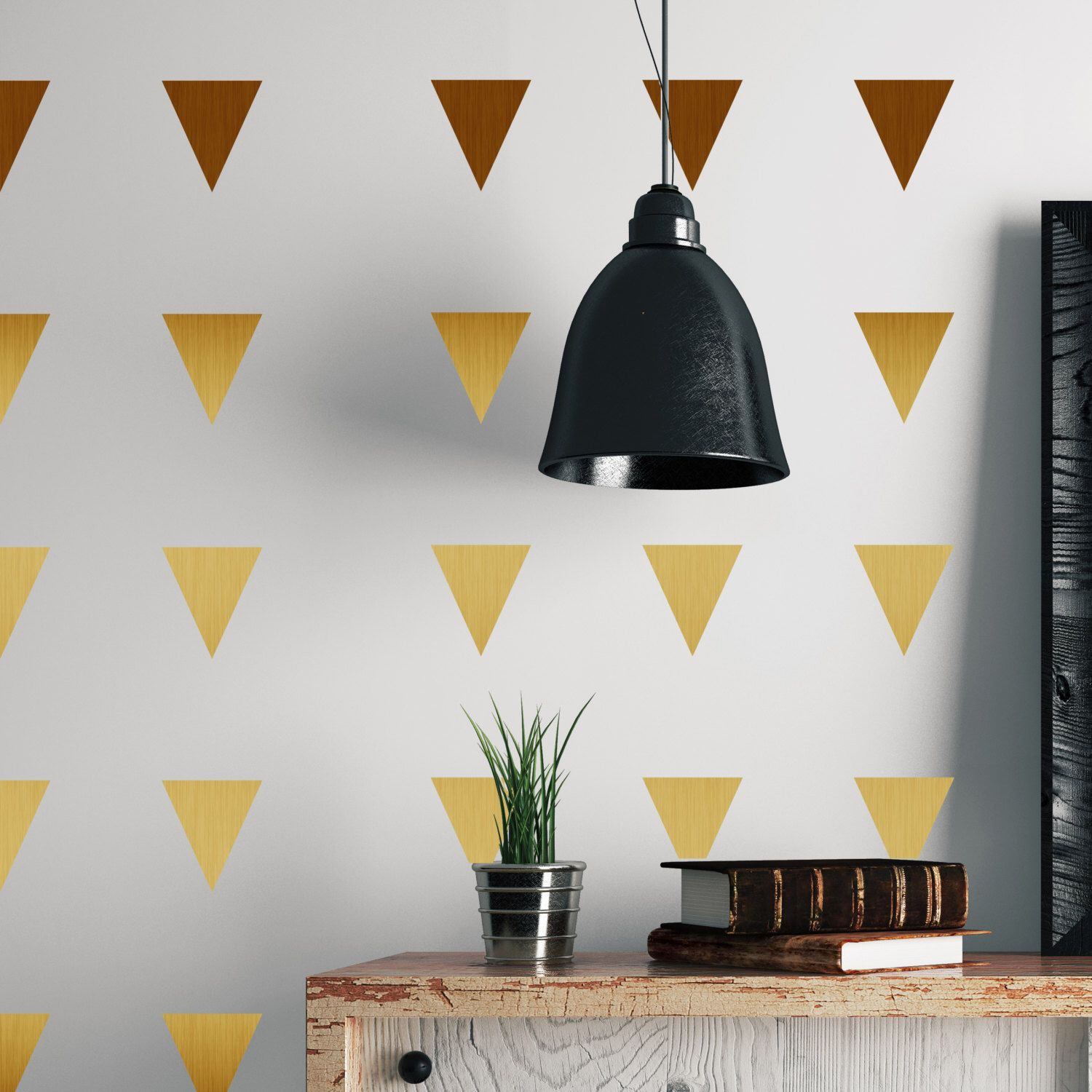Metal Effect Confetti Triangles Wall Stickers By Nutmegwallstickers
