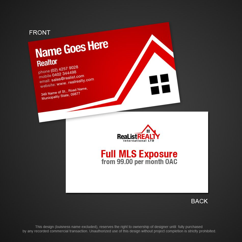 Canada real estate marketing business card designg 950950 real estate reheart Images