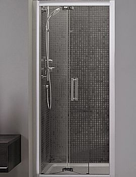 Ideal Standard Synergy 1000mm Infold Shower Door L6209eo Shower Doors Shower Taps Shower