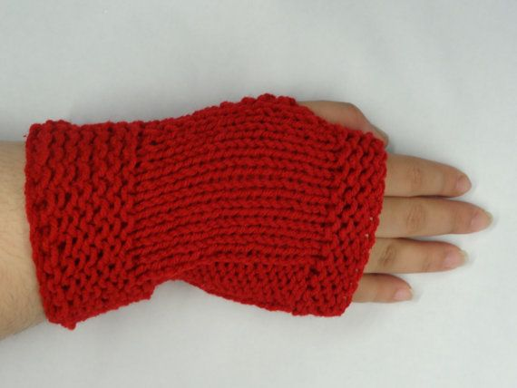 Fingerless Gloves Hand Knit   Fashion  Winter by ToppyToppyKnits, $21.00