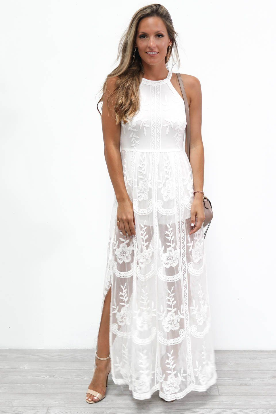 fefacc71375c Day Dreamer White Lace Maxi Romper | Amazing Lace New Arrivals in ...