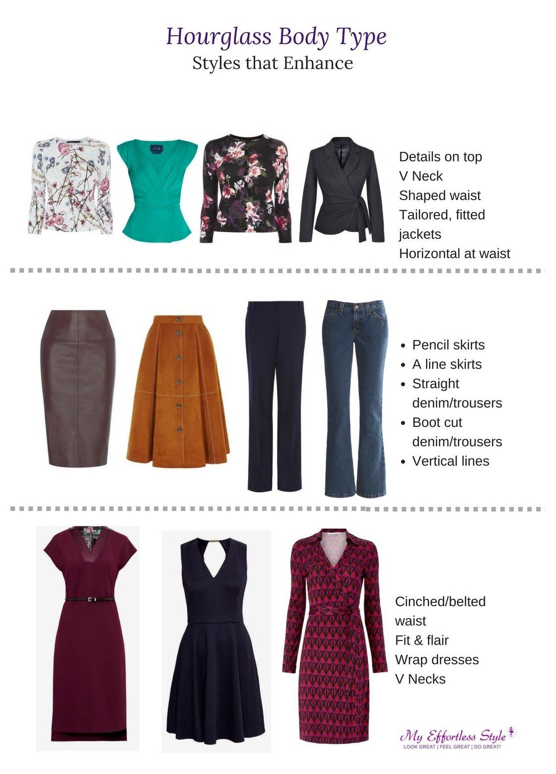 How to Dress the Hourglass Body Type #hour #glass #shape #outfits