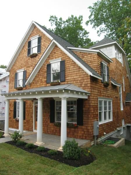 Giant Cape Cod Ish With Shingles House Paint Exterior Exterior House Paint Color Combinations Shingle House