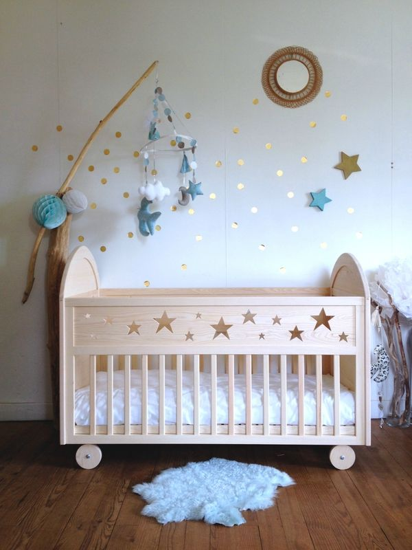 Baby Bedroom Furniture Sets: STAR BED Number 2 - Creme Anglaise