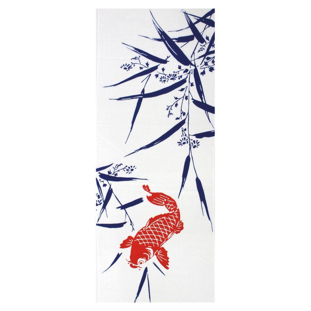 Kyoto Kyoyu Tenugui Tapestry Cotton Towel Red Carp | Kitchen ...