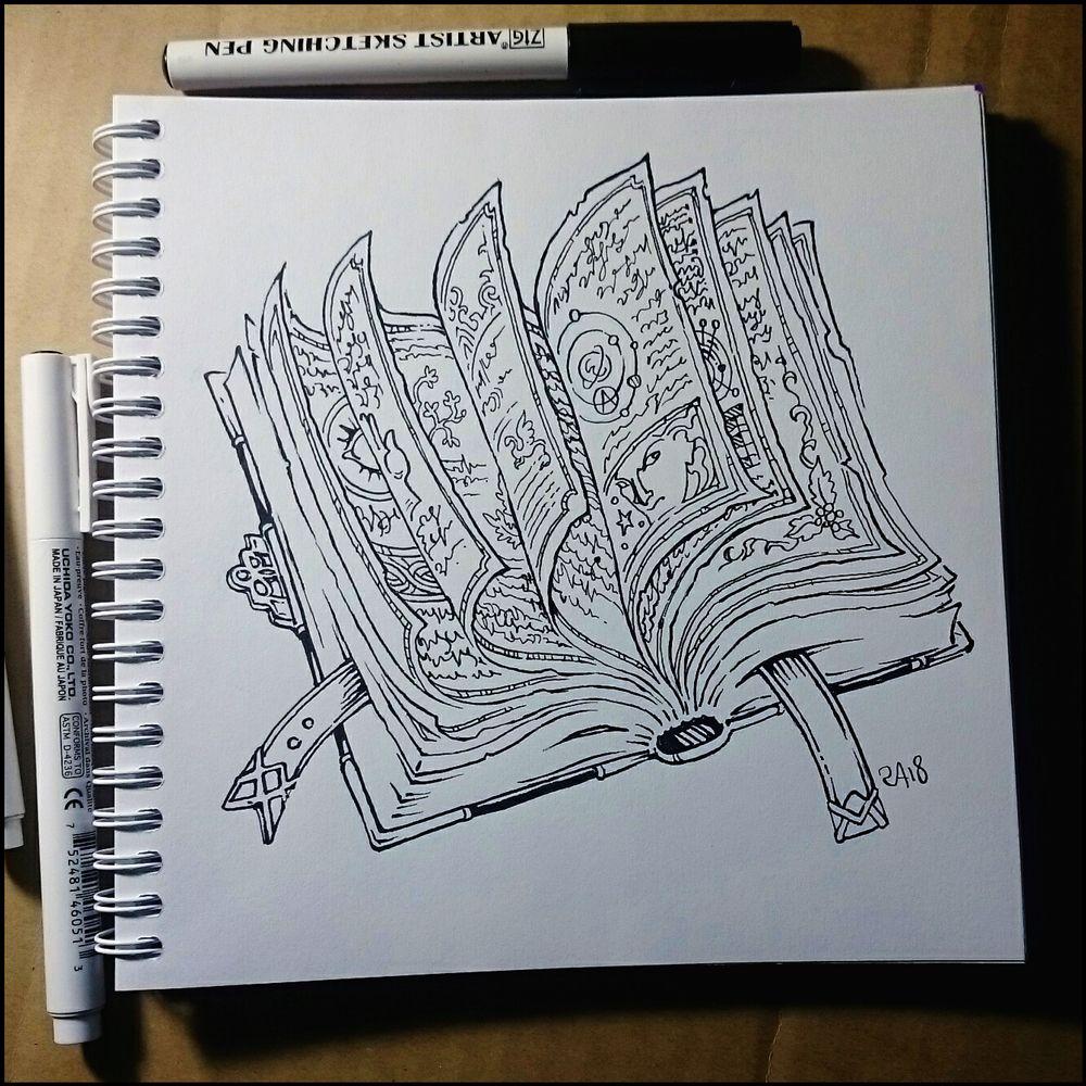 Sketchbook Spellbook By Candra Sketch Book Book Drawing Spell Book