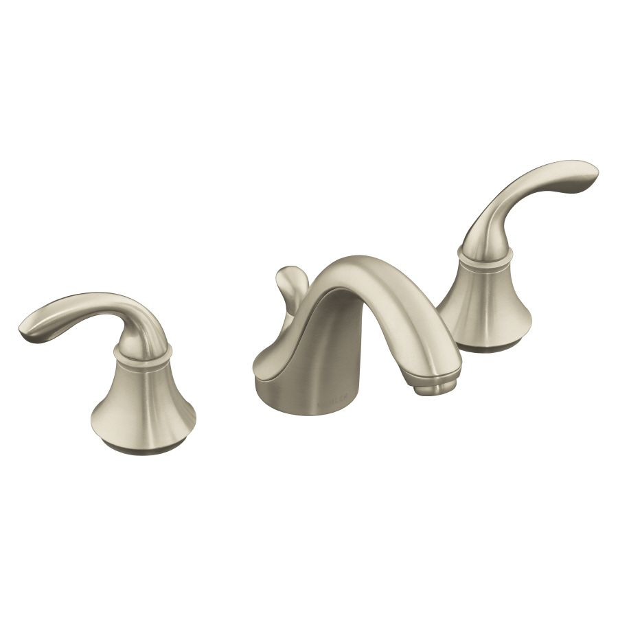 Kohler forte Vibrant Brushed Nickel 2 Handle Widpread Bathroom
