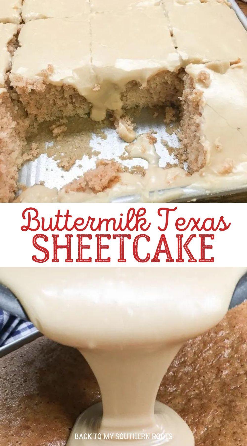 Buttermilk Texas Sheet Cake Recipe In 2020 Delicious Desserts Texas Sheet Cake Sheet Cake Recipes